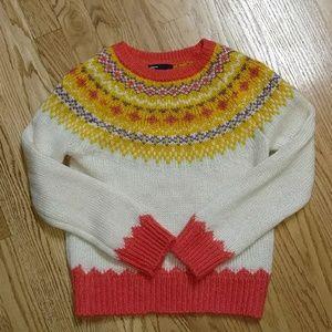 Gapkids wool mohair blend Fair isle sweater 8